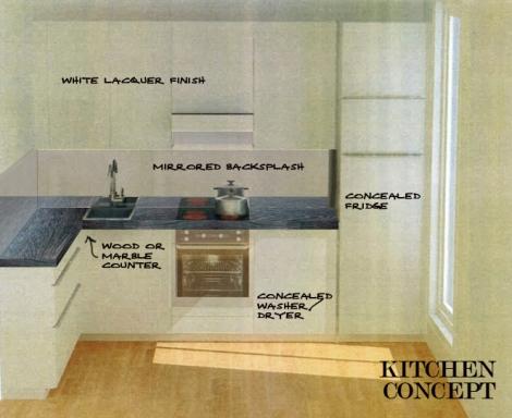 darty kitchen wood