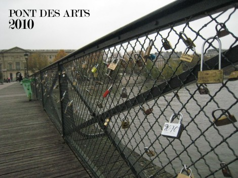 The Pont des Arts, the early days in 2010. It looked innocent enough.