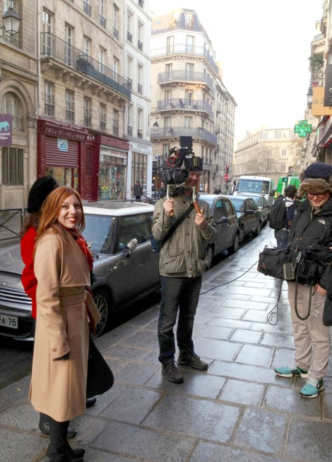 Filming in the 4th arrondissement early morning. It was 0C/32F!