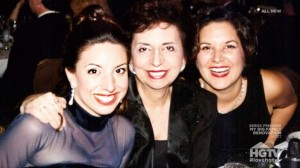 Happier times. With Ma and my sister, Maria (far right) at a friend's wedding.