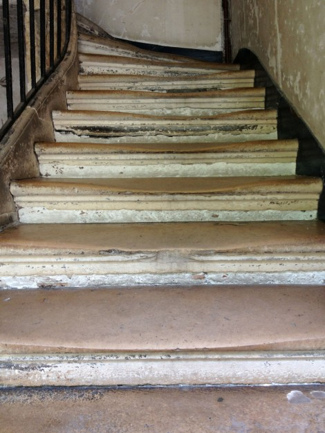 Stairs well worn by centuries of feet