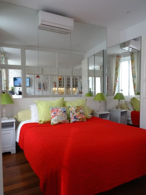 The bright, cheery bedroom in my friend's wonderful place. An incredible place to stay! Photo: ©Lisa Anselmo