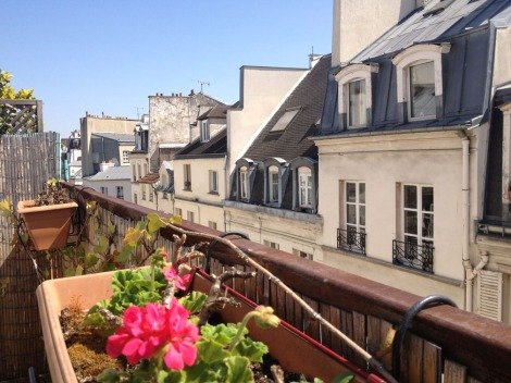 View over classic Paris rooftops.