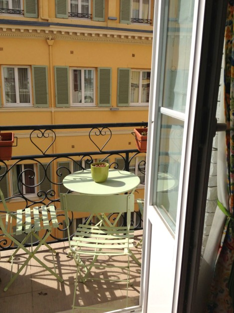 The balcony where I'd have a little apero each night. Photo: ©Lisa Anselmo