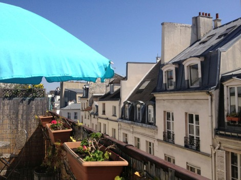 From the terrace I can't tell if I'm in Paris or Nice. Photo: ©Lisa Anselmo