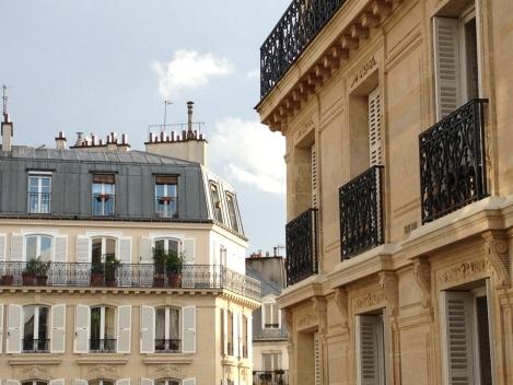 Beautiful Haussmann buildings are my view from three large windows. ©Lisa Anselmo