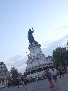 The statue of Marianne dominates Place de la Republique. ©Lisa Anselmo