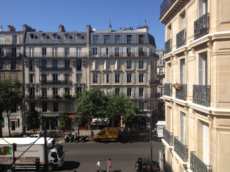 Beautiful Haussmann buildings are my view from three large windows. ©Lisa Anselmo
