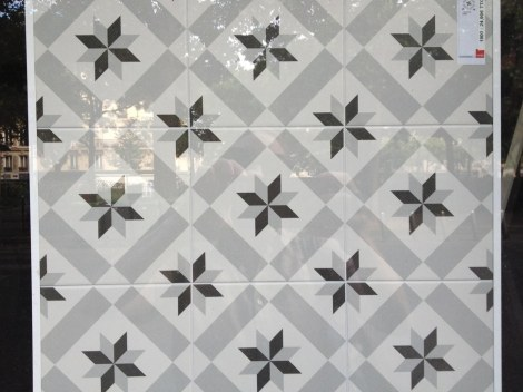 A very bold option for my bathroom floor. It's all the rage to reproduce old 19th century looks, and I'm all for it.