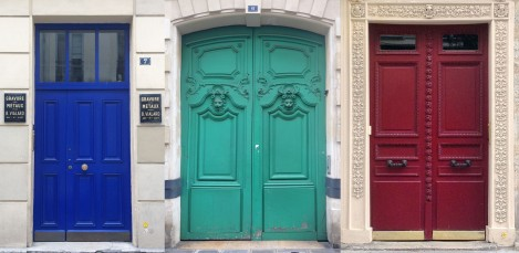 How long before these colorful Paris doors succumb to greige?