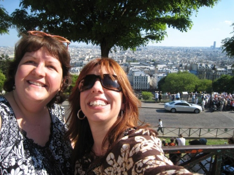 The two Lisas on top of the world. Montmartre, 2009.