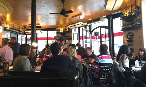 Cafes packed with Parisians just a day after the attack. ©Lisa Anselmo