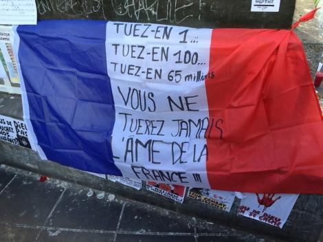 Kill one of us...kill 100 of us...kill 65 million—you can never kill the soul of France. Place de la Republique. ©Lisa Anselmo
