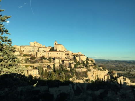 One of the many ancient hilltop villages in the Luberon in Provence.