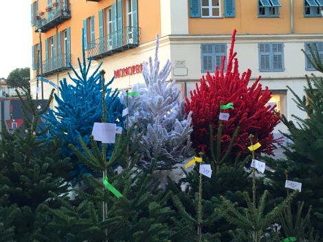 Christmas tree display, Old Town, Nice. ©Lisa Anselmo