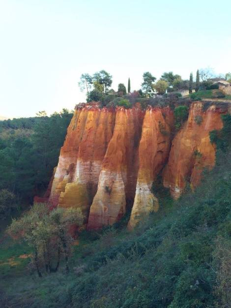 The incredible rock formations of Roussillon. ©Lisa Anselmo