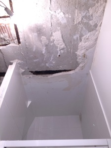 This used to be the shower.