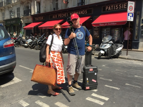 Lugging equipment around on the hottest day of the year in Paris. ©2015 Nomadic Frames