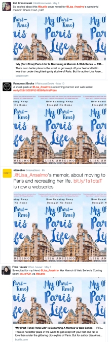 Twitter was a-flutter with tweets about my cover reveal.