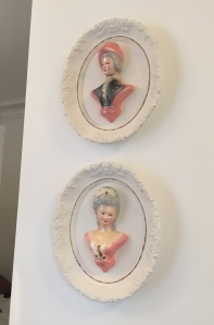 We found these in the attic, still in the same box for 40 years. We guessed they were a wedding gift our parents didn't like. I'm sure my mother is mystified in heaven that I adore their kitschy perfection.