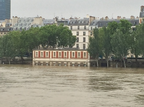 The Seine rises after weeks of rain.