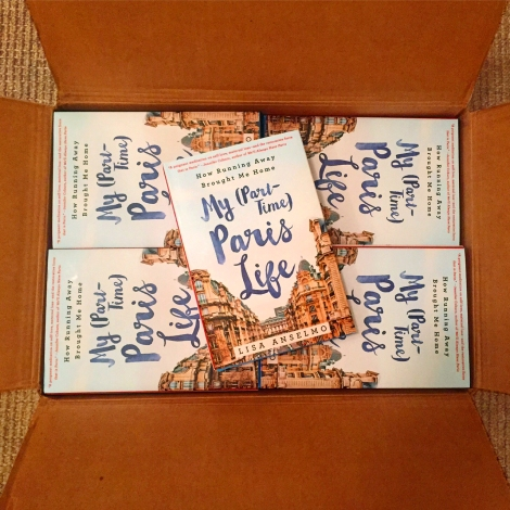 Lisa Anselmo-My-Part-Time-Paris-Life-books in box