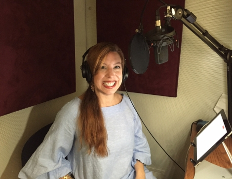 Recording the audio version of my book for those who like to listen while they drive.