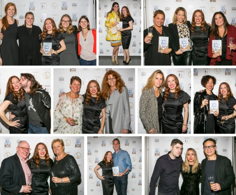 Top row: My dream team at St. Martin's Press; fashion blogger Caroline Vazzana; my girlz!: Jeanette, Katrin and Tricia. Middle row: Kisses from friend Jordan Holberg; friends and ex-colleagues from PEOPLE, Barb Sanderson and Karla Moriarty. Karla is the friend who taught me about the